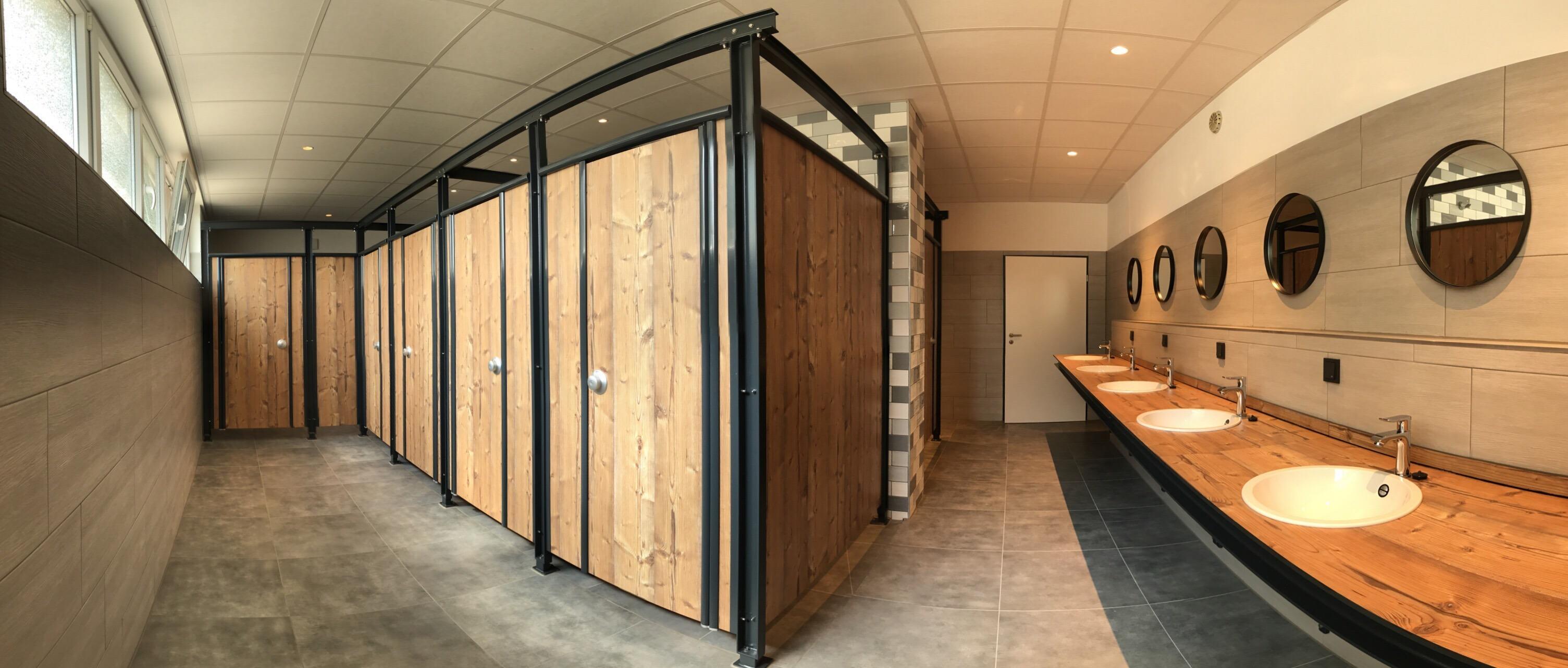 Der renovierte Duschbereich des Naturpott Borkenberge