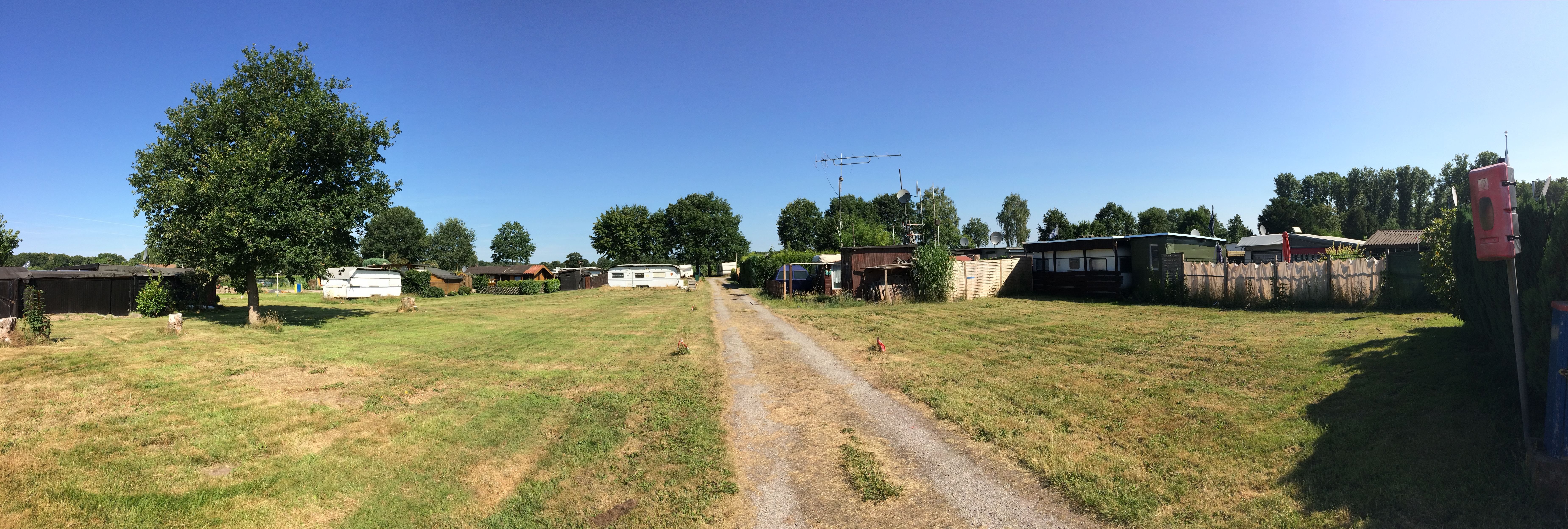 Eine Rasenfläche auf dem Campingplatz in der Nähe : Naturpott Borkenberge