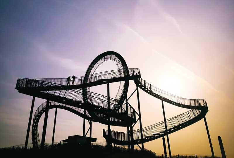 Die Installation Tiger & Turtle ist neben dem Naturpott Borkenberge ein beliebtes Ausflugsziel im Ruhrgebiet.